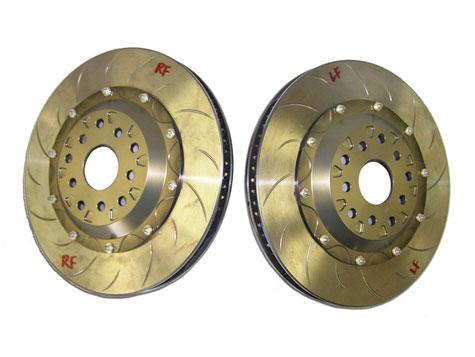 FLI or Fine Line Imports Subaru STI Stage 2.5 Brake Kit using Pagid brake pads 4-2-1