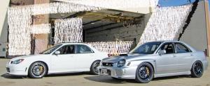 Fine Line Imports or FLI 2002 Subaru WRX STI GDB RS, Vendor Class Winner and 2006 STI Flagship 001 built by FLI