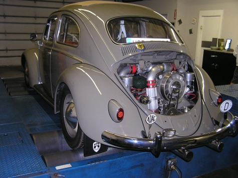 vw euro fully built turbo air cooled beetle controlled   electromotive tec  ecu tuned