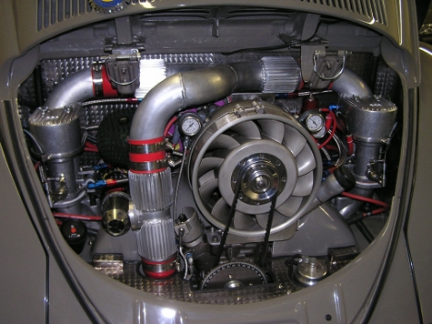 1959 VW Euro Fully Built Turbo Air Cooled Beetle, Controlled by an Electromotive Tec 3 ECU Tuned ...